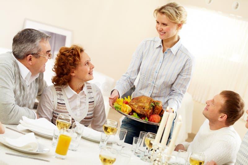 Het diner van de vakantie royalty-vrije stock foto