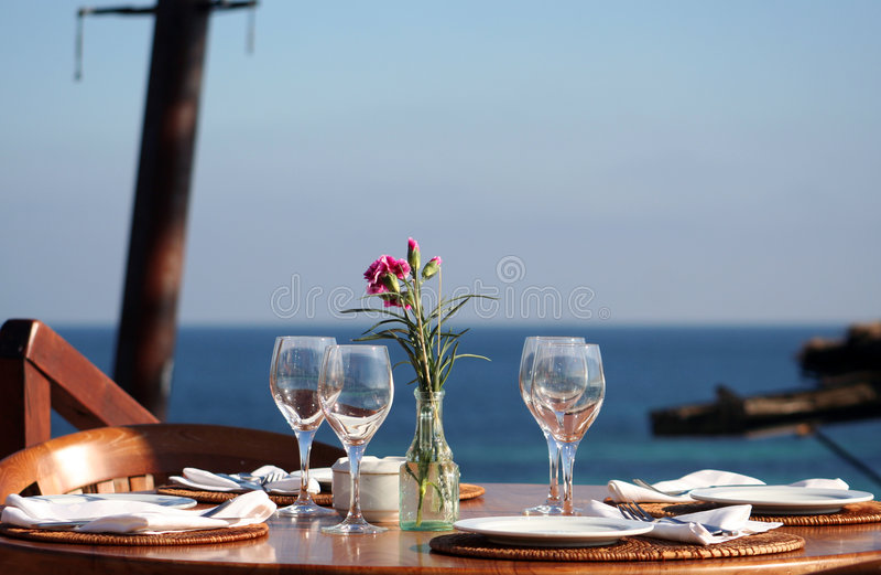 Het diner van de vakantie/lunchlijst stock fotografie