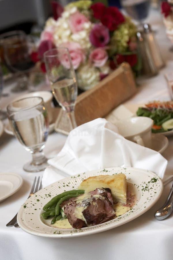 Het diner van het huwelijk royalty-vrije stock foto