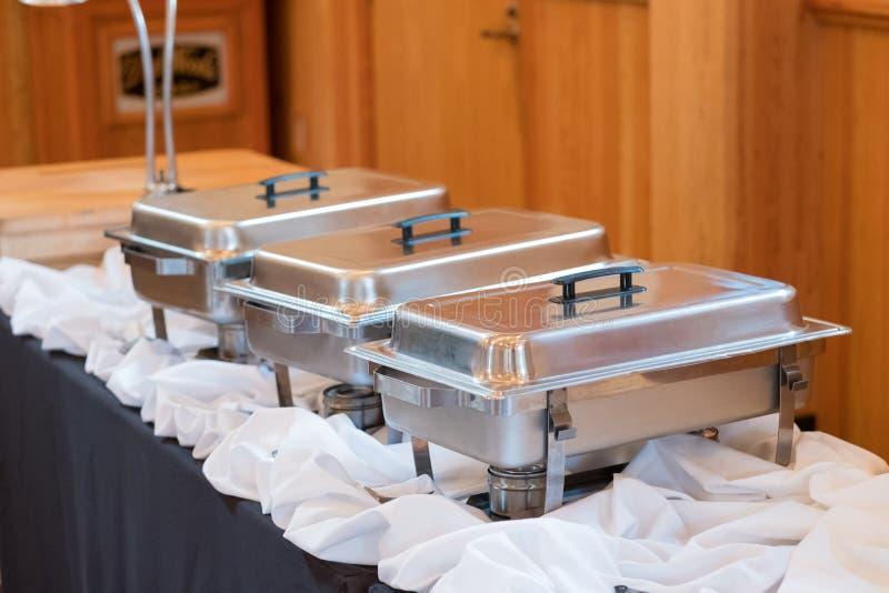 Het Diner van het huwelijksbuffet royalty-vrije stock afbeelding