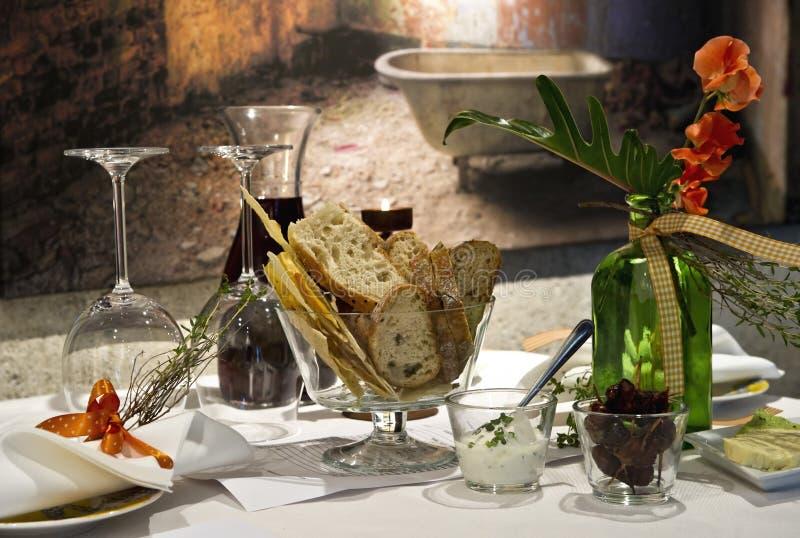 Het diner van het kaarslicht royalty-vrije stock foto