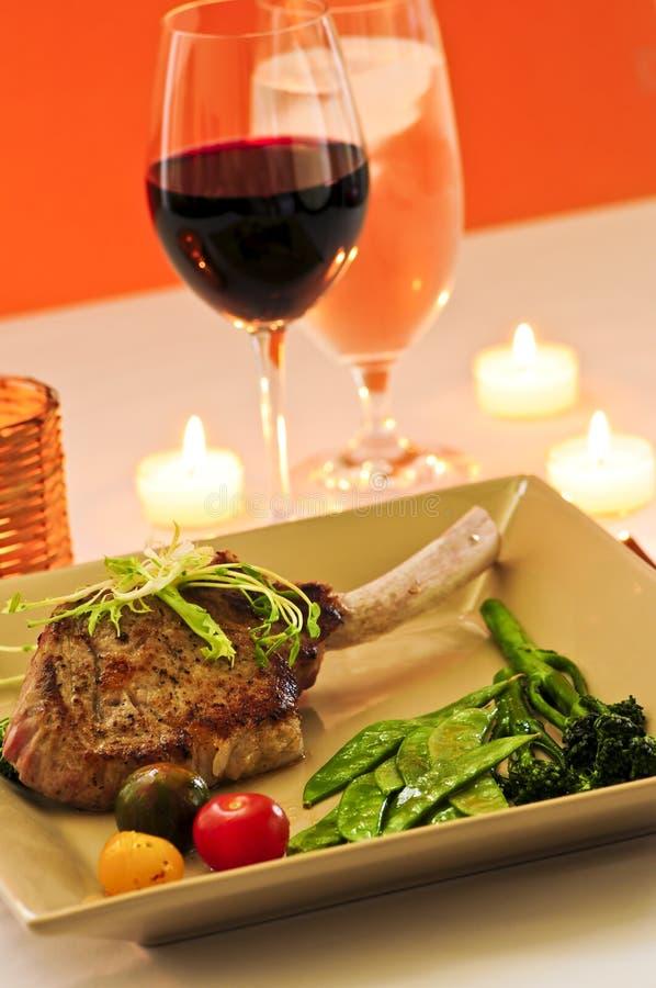 Het diner van het kalfsvlees stock foto's