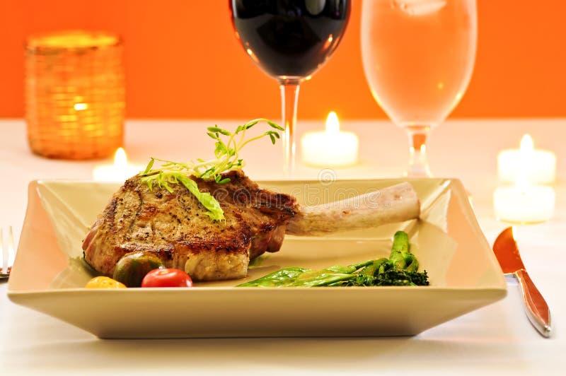 Het diner van het kalfsvlees royalty-vrije stock foto's