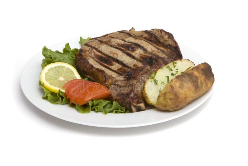 Het diner van het lapje vlees royalty-vrije stock afbeeldingen