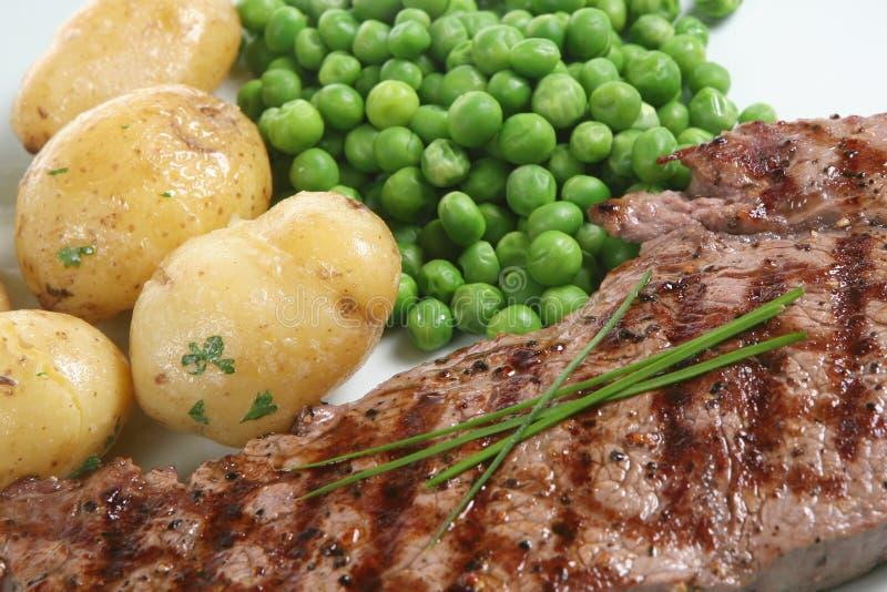 Het Diner van het lapje vlees stock afbeeldingen