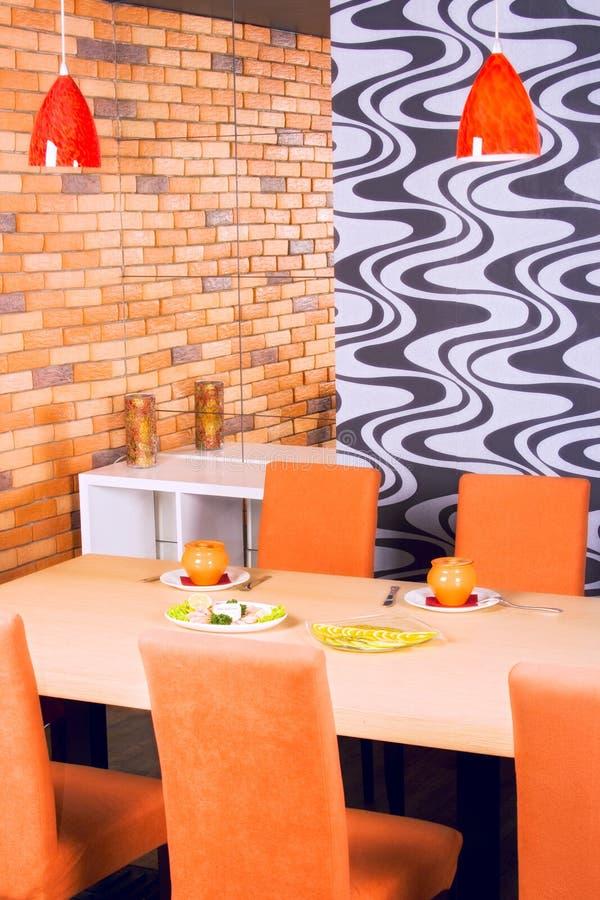 Het diner van het restaurant stock afbeeldingen