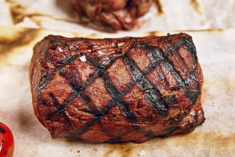 Het diner van het rundvleeslapje vlees stock foto
