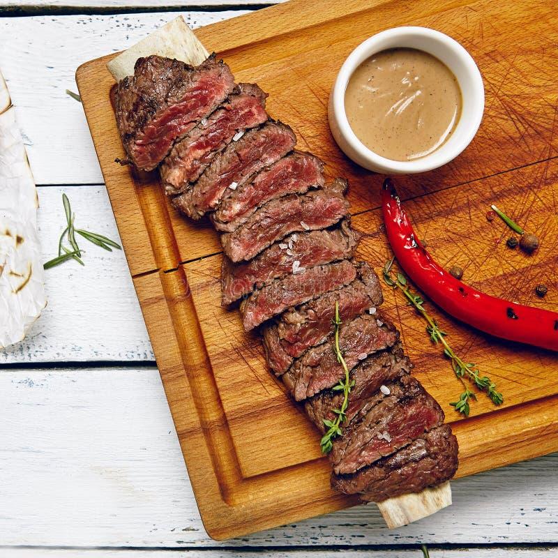 Het diner van het rundvleeslapje vlees royalty-vrije stock fotografie