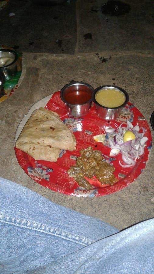 Het diner van India nonveg stock afbeelding