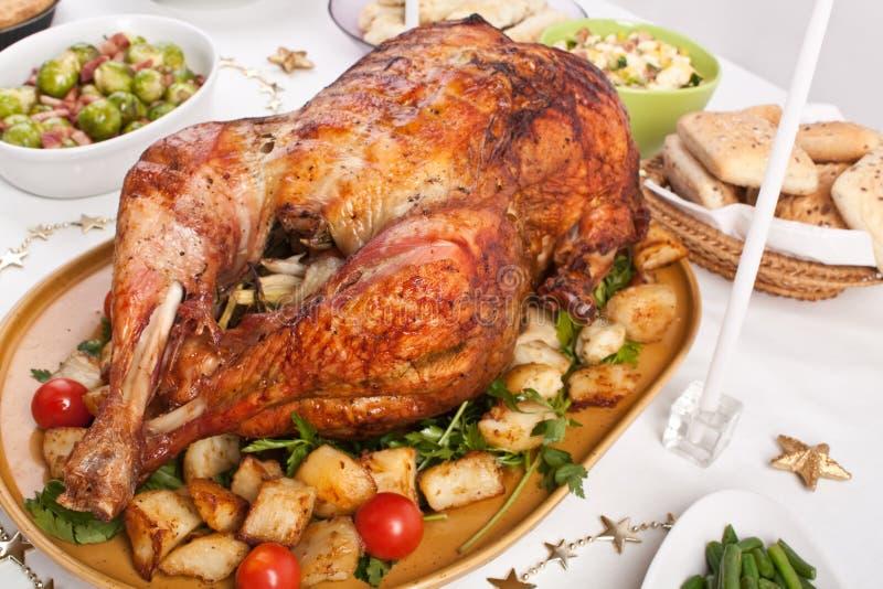 Het diner van Kerstmis stock fotografie