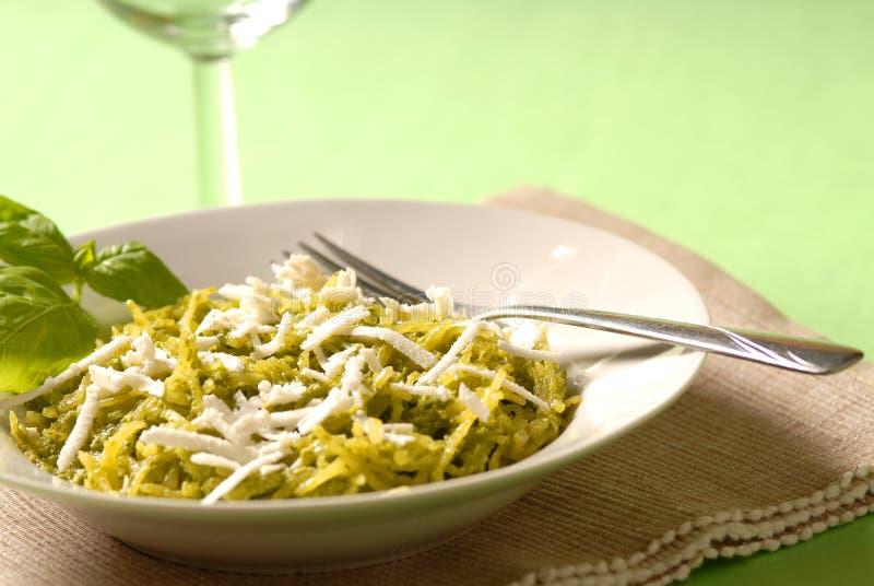 Het diner van Pesto stock afbeeldingen