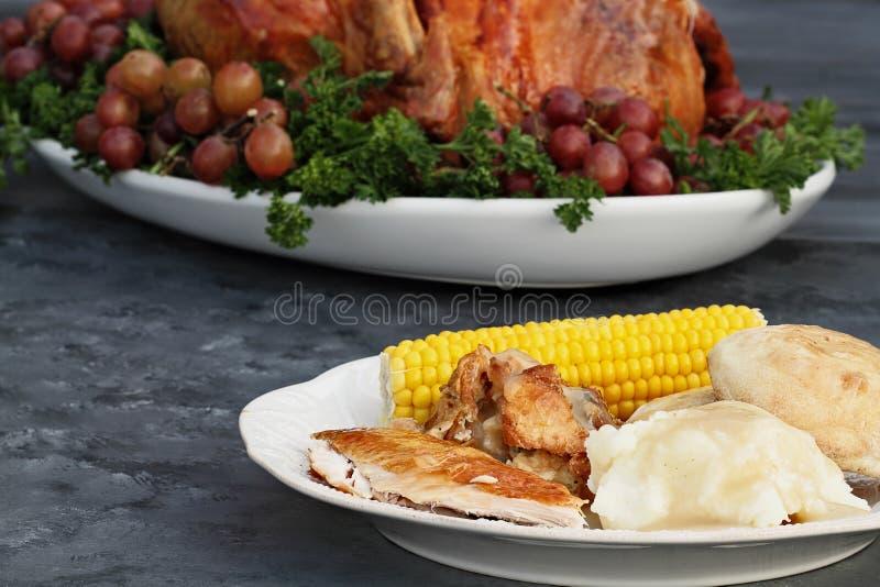 Het Diner van Turkije van de dankzegging royalty-vrije stock afbeeldingen
