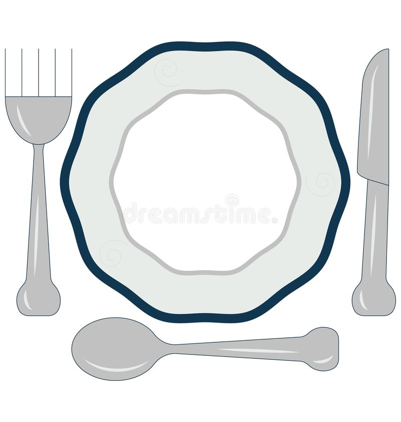 Het dineren aangepast en editable Lijnvector Geïsoleerd Pictogram royalty-vrije illustratie