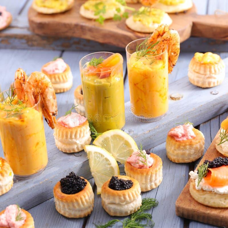 Het dineren buffet royalty-vrije stock foto's