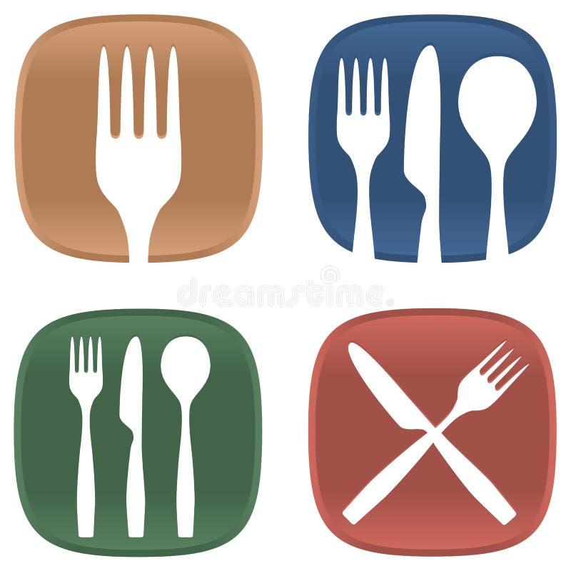 Het dineren symbolen stock illustratie