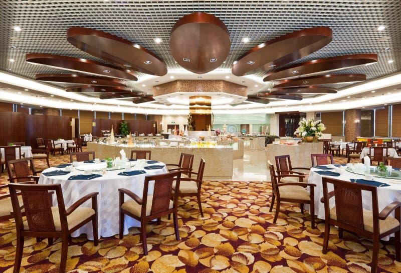 Het dineren zaal in hotel stock foto