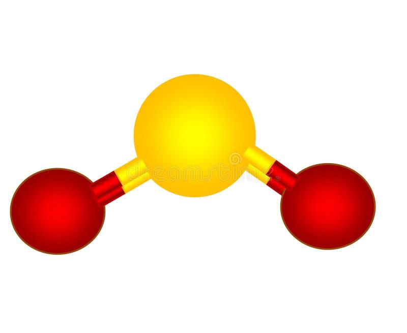 Het dioxyde moleculaire structuur van de zwavel royalty-vrije illustratie