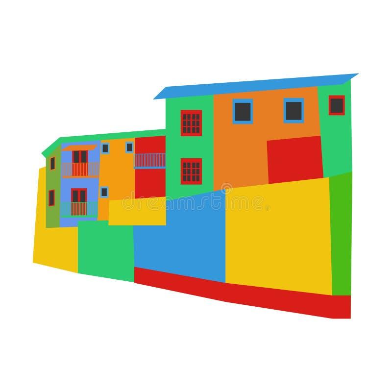Het district Argentinië van La Boca vector illustratie
