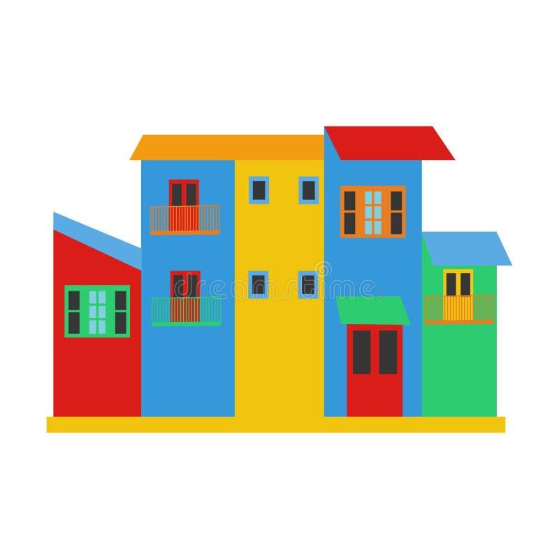 Het district Argentinië van La Boca royalty-vrije illustratie