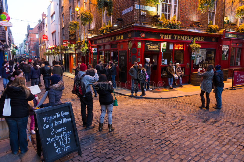 Het district Dublin van de tempelbar royalty-vrije stock fotografie
