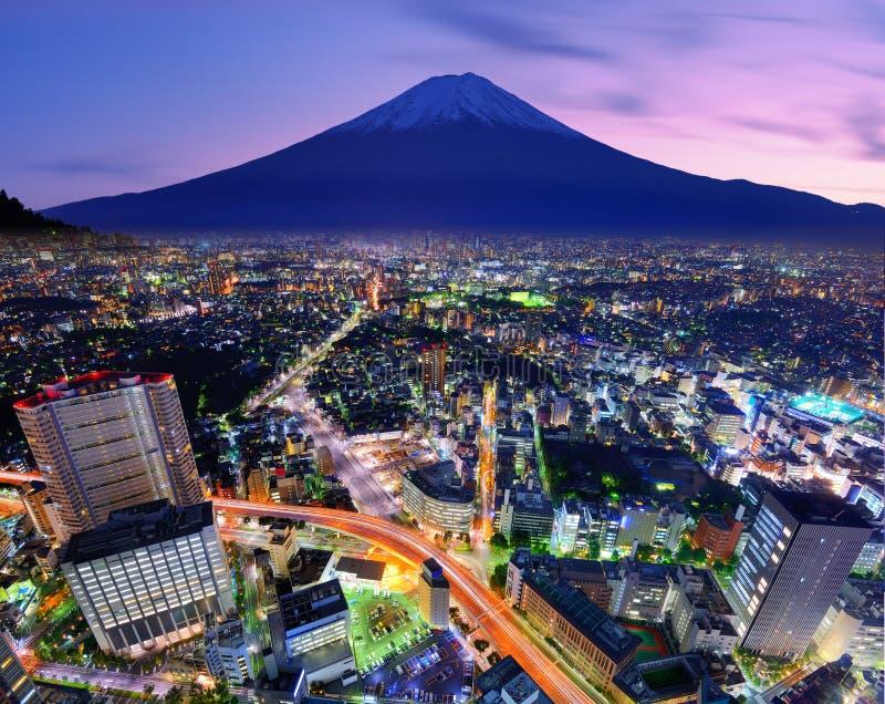 Tokyo en Fuji royalty-vrije stock foto's