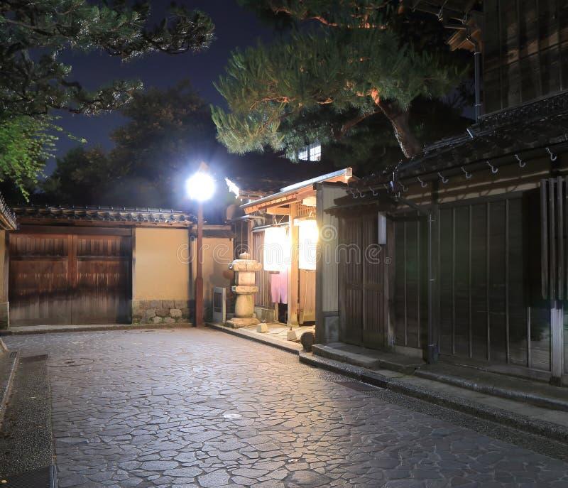 Het district Kanazawa van Nagamachisamoeraien stock afbeeldingen