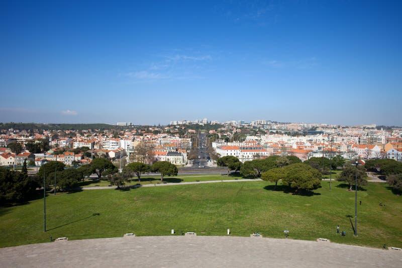 Het District van Belem van Lissabon van hierboven stock foto's