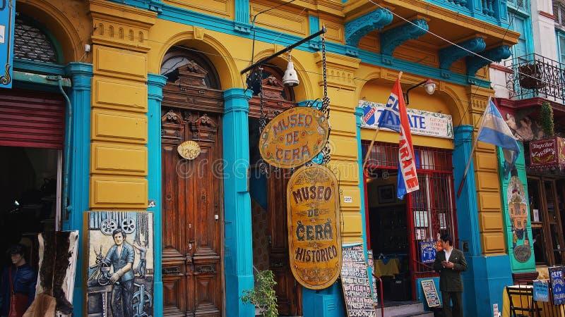 Het District van Buenos aires, oriëntatiepuntgr Caminito stock foto's