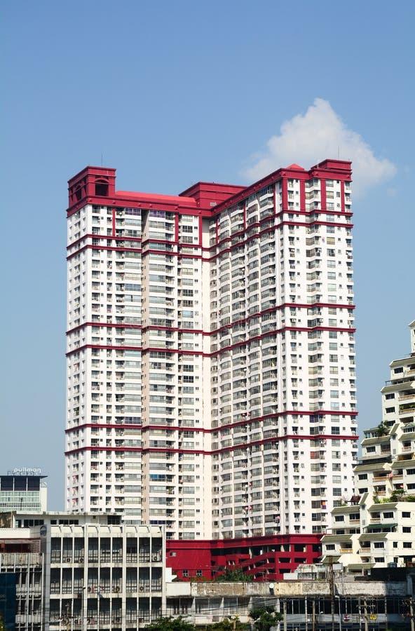 Het district van de binnenstad van Bangkok stock foto's