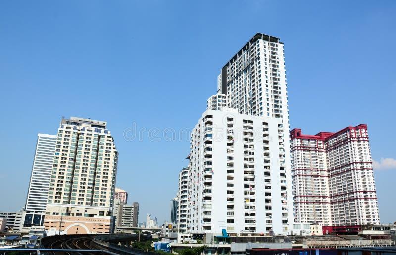Het district van de binnenstad van Bangkok royalty-vrije stock afbeeldingen
