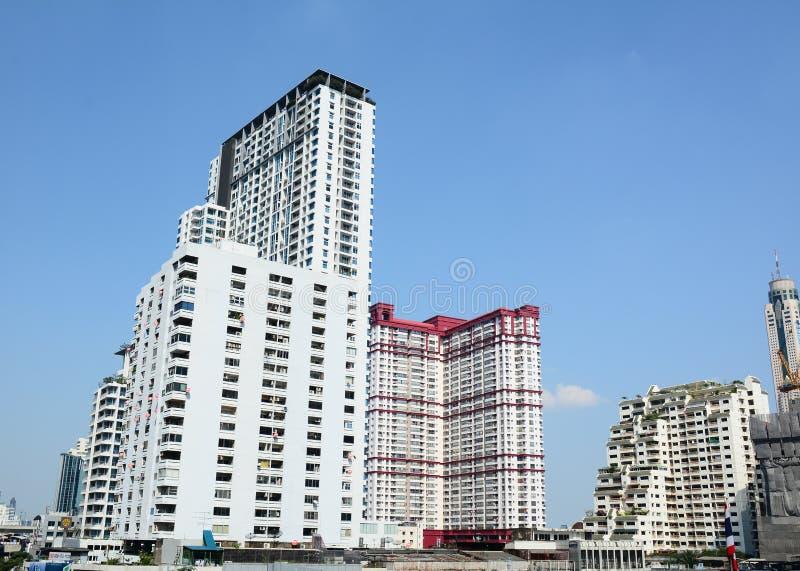 Het district van de binnenstad van Bangkok stock afbeelding