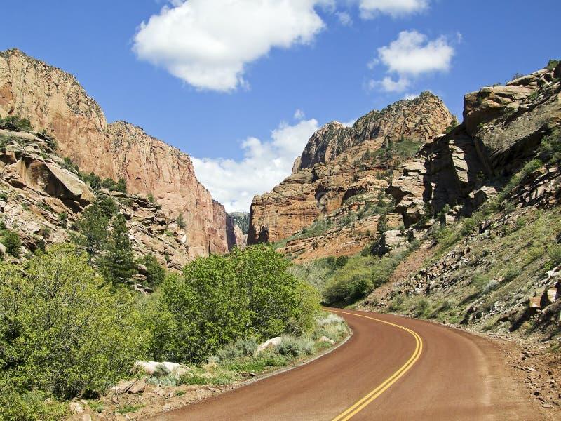 Het District van de Canions van Kolob van Zion NP, Utah stock afbeeldingen