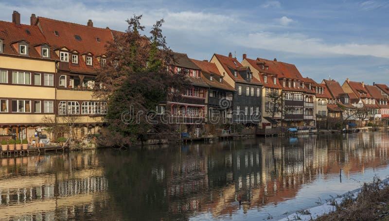 Het district van de vroegere vissers in het Eilandstad van Bamberg is genoemd geworden Weinig Venetië Kleinvenedig Bamberg stock fotografie