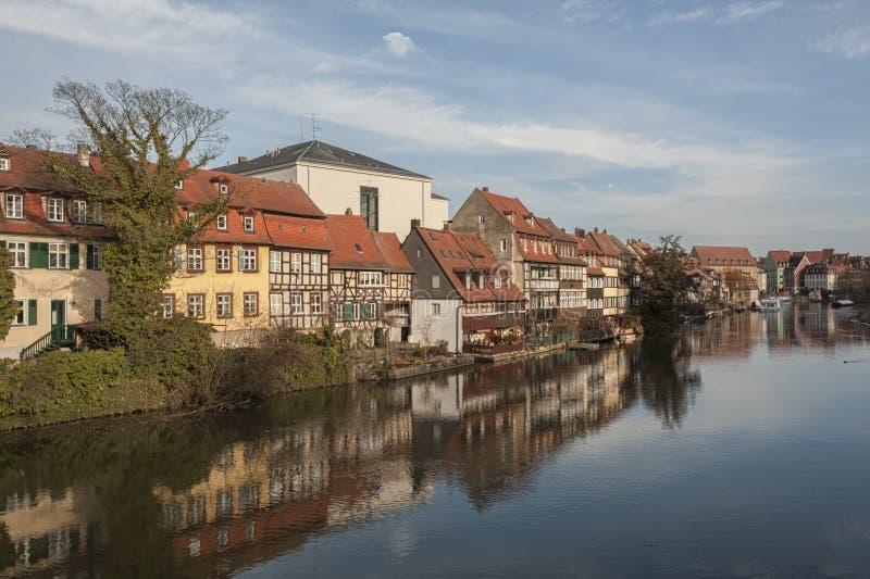Het district van de vroegere vissers in het Eilandstad van Bamberg is genoemd geworden Weinig Venetië Kleinvenedig Bamberg royalty-vrije stock foto