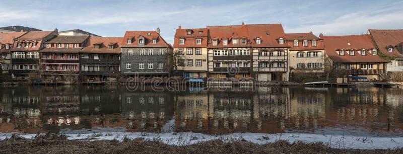 Het district van de vroegere vissers in het Eilandstad van Bamberg is genoemd geworden Weinig Venetië Kleinvenedig Bamberg stock foto