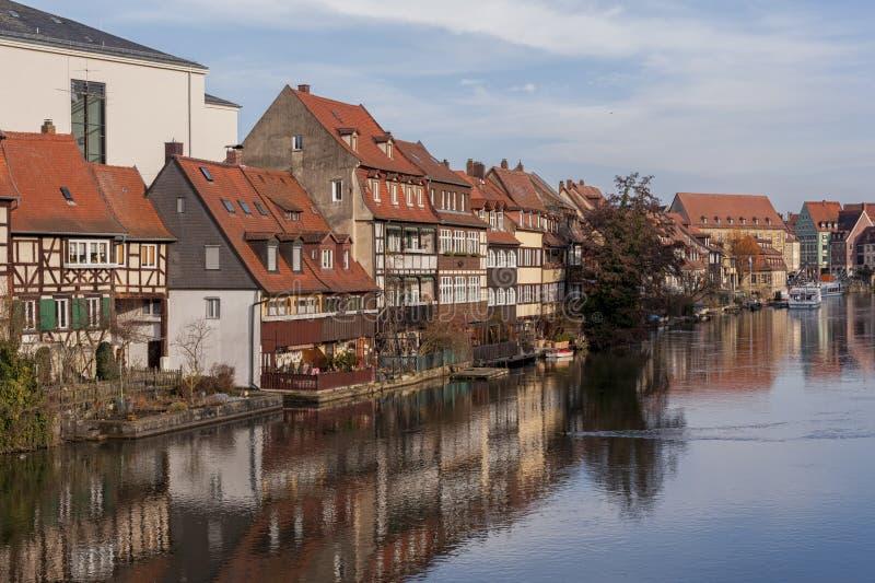 Het district van de vroegere vissers in het Eilandstad van Bamberg is genoemd geworden Weinig Venetië Kleinvenedig Bamberg royalty-vrije stock fotografie