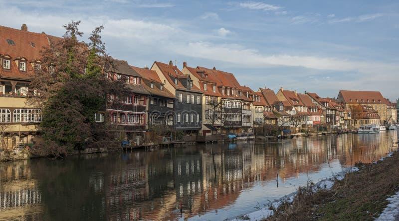Het district van de vroegere vissers in het Eilandstad van Bamberg is genoemd geworden Weinig Venetië Kleinvenedig Bamberg stock foto's