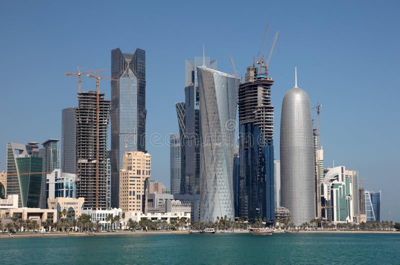 Het district van Doha downttown stock foto