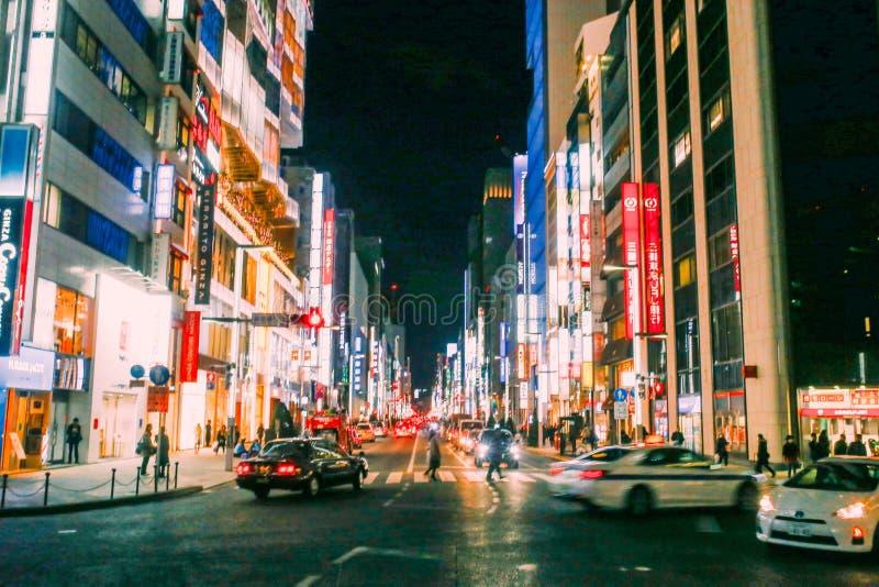 Het District van Ginza in Tokyo royalty-vrije stock foto's
