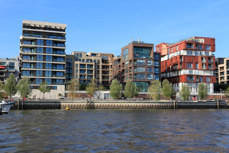Het district van Hamburg HafenCity royalty-vrije stock foto