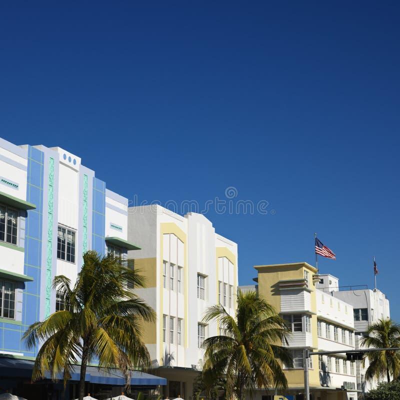 Het district van het art deco van Miami stock fotografie