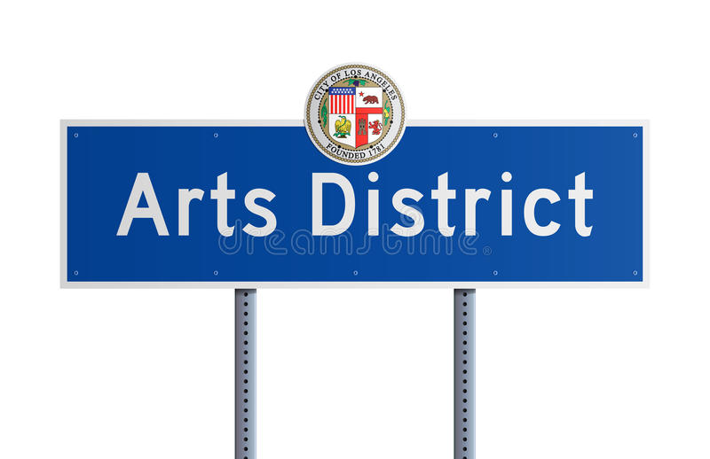 Het District van kunsten vector illustratie