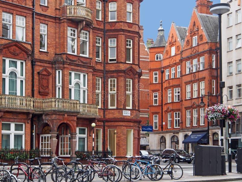Het district van Londen Mayfair stock fotografie