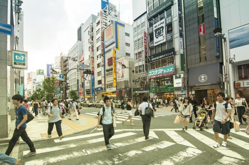 Het district van Shinjuku van de straat in Tokyo royalty-vrije stock foto