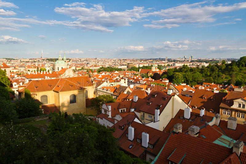 Het district van Strana van Mala, Praag, Tsjechische Republiek royalty-vrije stock afbeelding