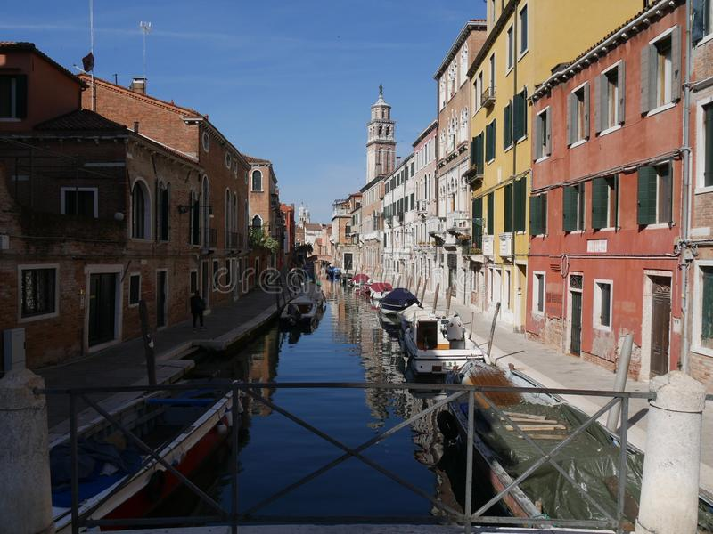 Het district van Venetië - Dorsoduro- stock fotografie