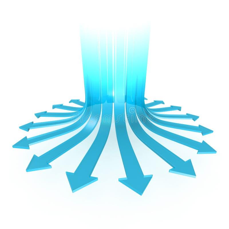 Het divergeren pijlen royalty-vrije illustratie