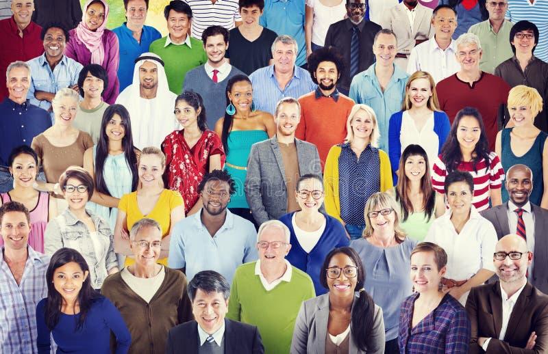 Het diverse Concept van de de Samenhorigheidseenheid van het Diversiteits Etnische Behoren tot een bepaald ras stock foto