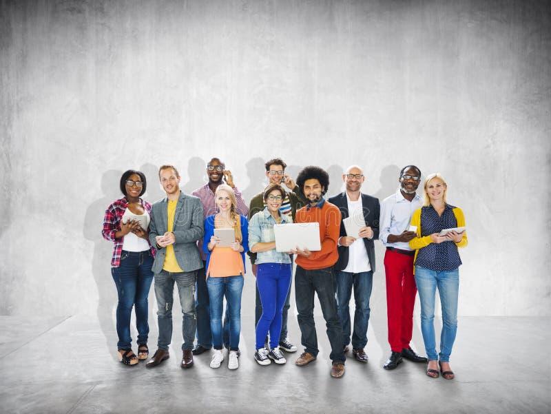 Het diverse Etnische Concept van de Bedrijfsberoeps Vrolijke Variatie stock foto