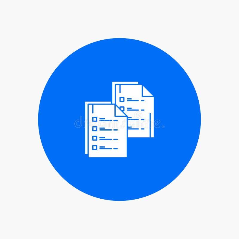 Het document, Analytics, Gegevens, Exemplaar, Document, hervat stock illustratie